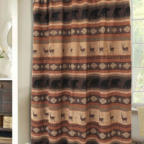 Autumn Trails/Northern Pine Shower Curtain JB4146
