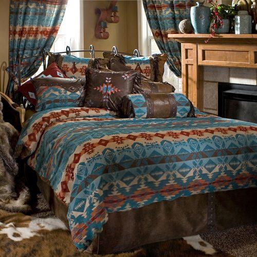 Turquoise Chamarro Bedding Set
