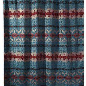 Turquoise Chamarro Shower Curtain JB2085