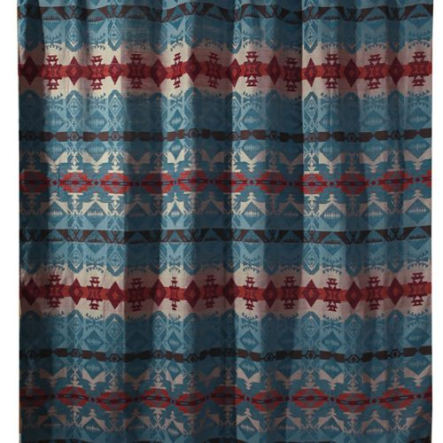 Turquoise Chamarro Shower Curtain JB2085