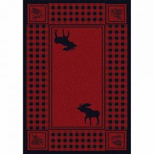 Moose Rug Red