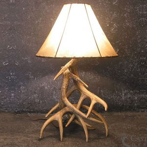 Whitetail Deer 3 Antler Table Lamp W3L
