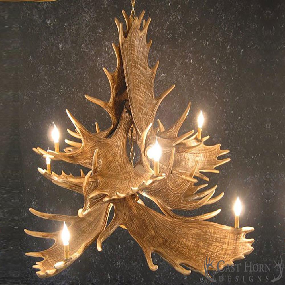 Moose 10 antler chandelier m10dl aloadofball Choice Image
