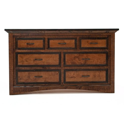 Chesapeake Reclaimed Barn Wood 7 Drawer Dresser 47425