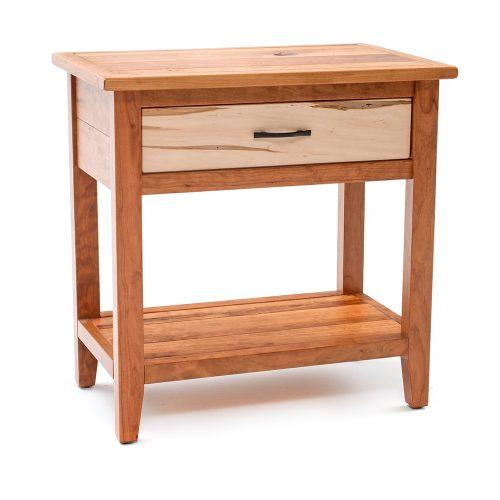 Denver 1 Drawer Nightstand – Maple & Cherry Mix GG88415-WCM