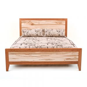 Denver Bed -Cherry-Maple Mix Tapered Legs 88440-WCM