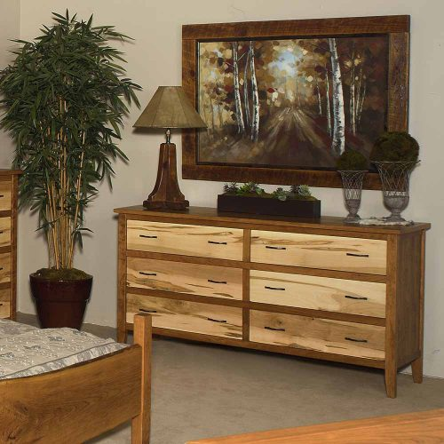 Denver 6 Drawer Dresser–Maple-Cherry Mix 88425-WCM