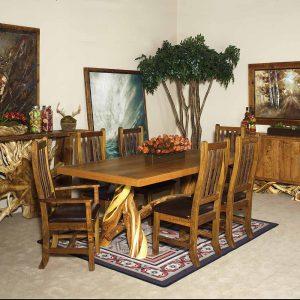 Fire Lake Reclaimed Barn Wood-Juniper Dining Table 5001