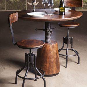 Industrial Modern Adjustable Dining Table