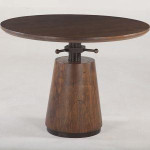 "New Industrial Modern 40"" Round Adjusting Table FIM-RDA40WN"