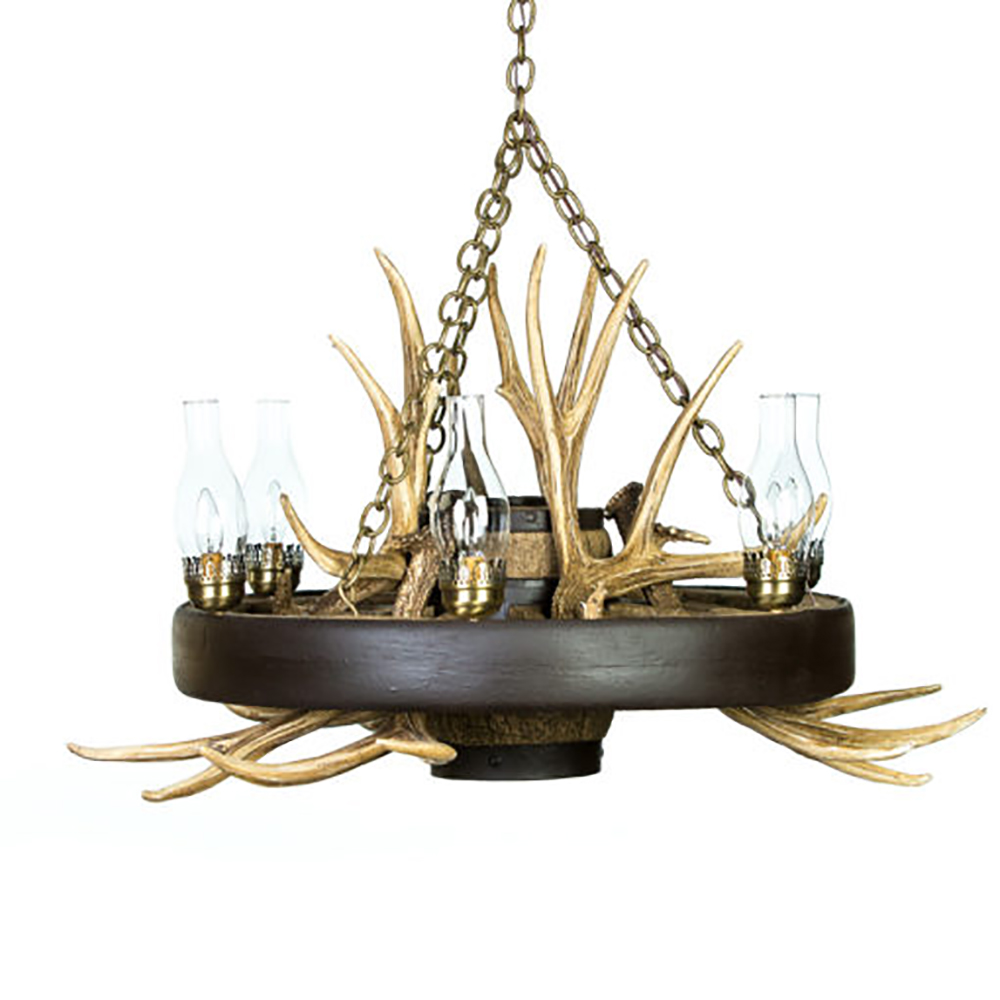 Wagon wheel mule deer antler chandelier wwsmd wagon wheel mule deer antler chandelier arubaitofo Image collections