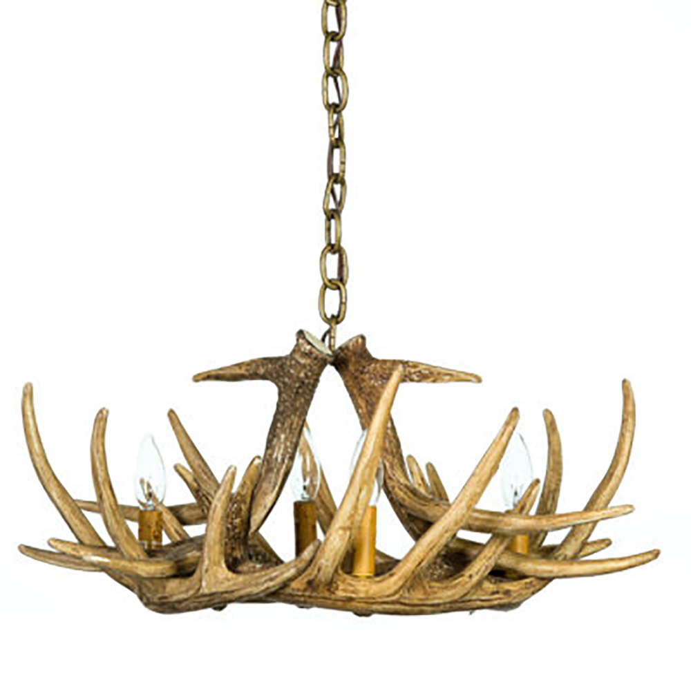 Whitetail deer 6 antler chandelier chd w6 small faux antler chandelier aloadofball Choice Image