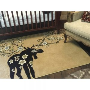 Moose Blossom Natural Rug