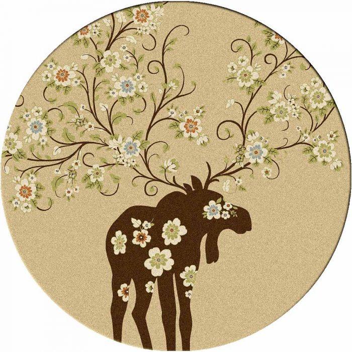 Cream Moose Rug