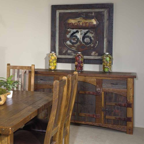 Heritage Laramie Reclaimed Barn Wood 2 Drawer 4 Door Sideboard 18033