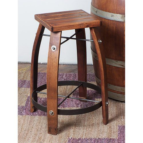 Whiskey Stave Bar Stool 818W24