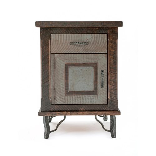 Hill Country Reclaimed Barn Wood 1 Door 1 Drawer Nightstand 36416