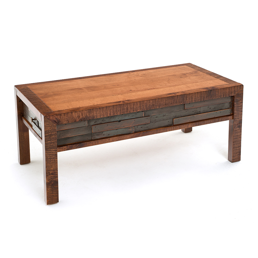 Chelsea Reclaimed Barn Wood 2 Drawer Coffee Table