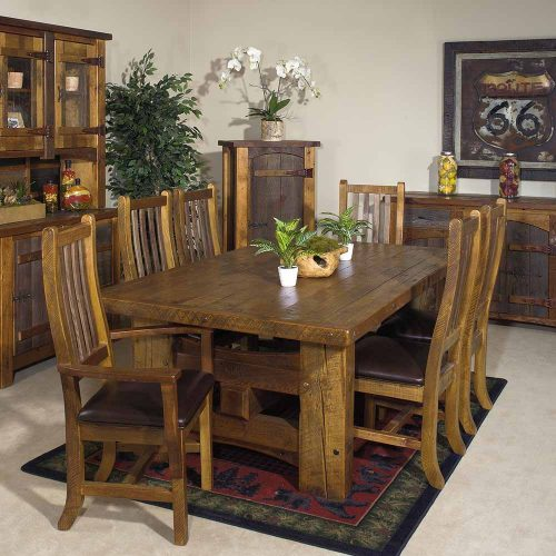 Stony Brook Reclaimed Barn Wood Laredo Dining Table 7083
