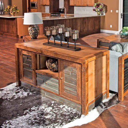 Chelsea Reclaimed Barn Wood 2 Door 1 Drawer TV Stand 41220