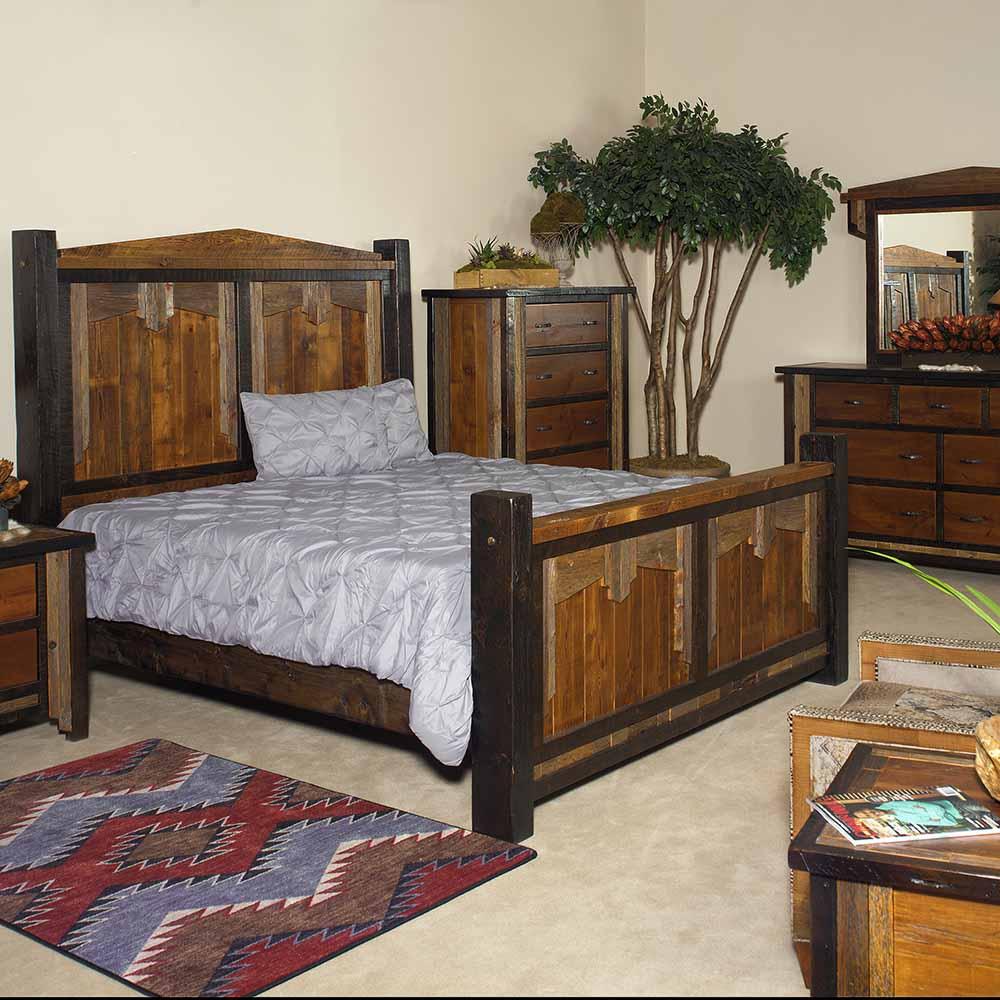 Cody Reclaimed Barn Wood Bed In Mid Century Western Design