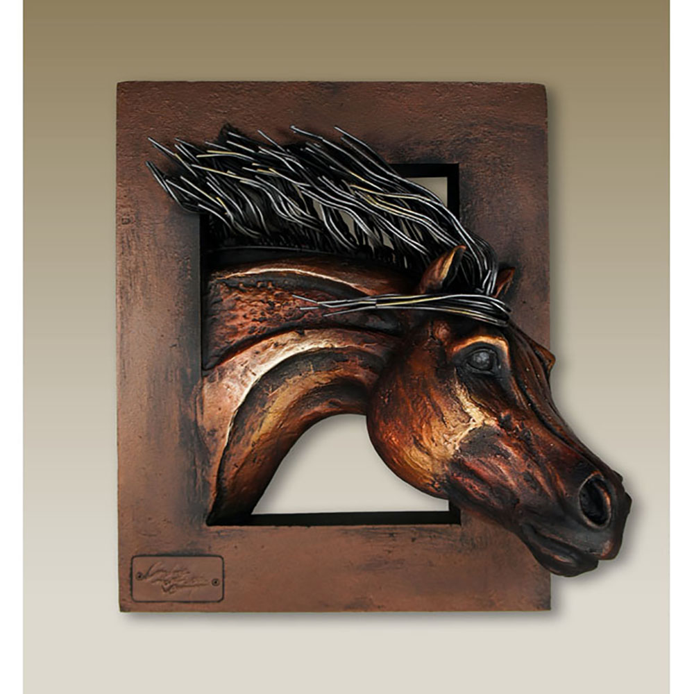 "Running"" Horse Head Frame :D-CFV-01"