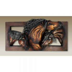 Triple Horse Head Frame: 3 Dimensional Horse Heads D-CFV-30
