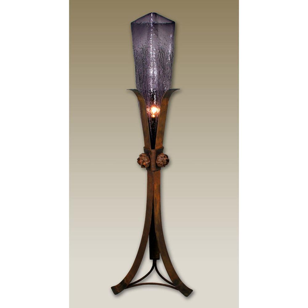 Triangle glass vase rosette base floor lamp gl 011f glass vase rosette base floor lamp aloadofball Gallery