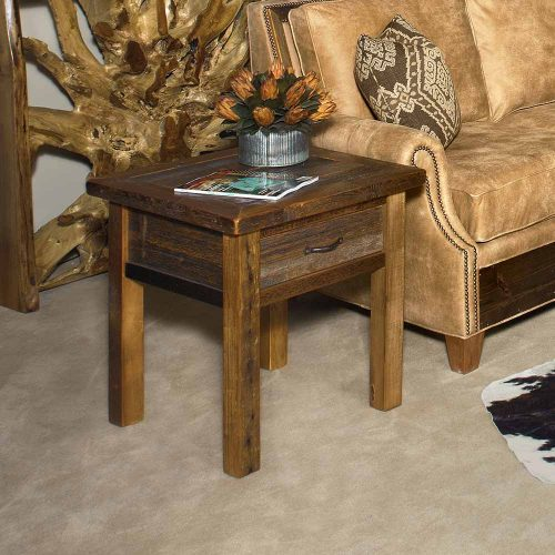 Heritage Richland Reclaimed Barn Wood 1 Drawer End Table 18410