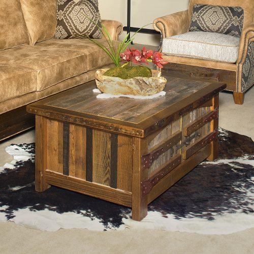 Heritage Teton Reclaimed Barn Wood 2 Door Coffee Table 18215