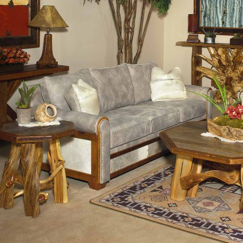 Remington Open Barnwood Sofa