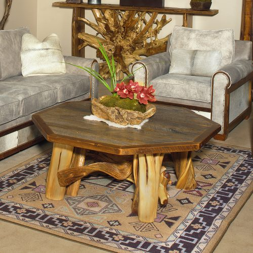 Silverton Reclaimed Barn Wood Octagon Coffee Table 87215