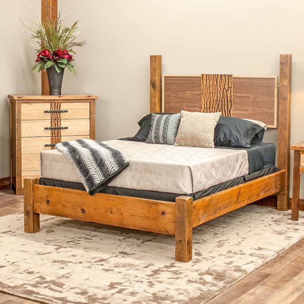 Mendocino bed reclaimed barn wood tm designs for Recycled timber beds