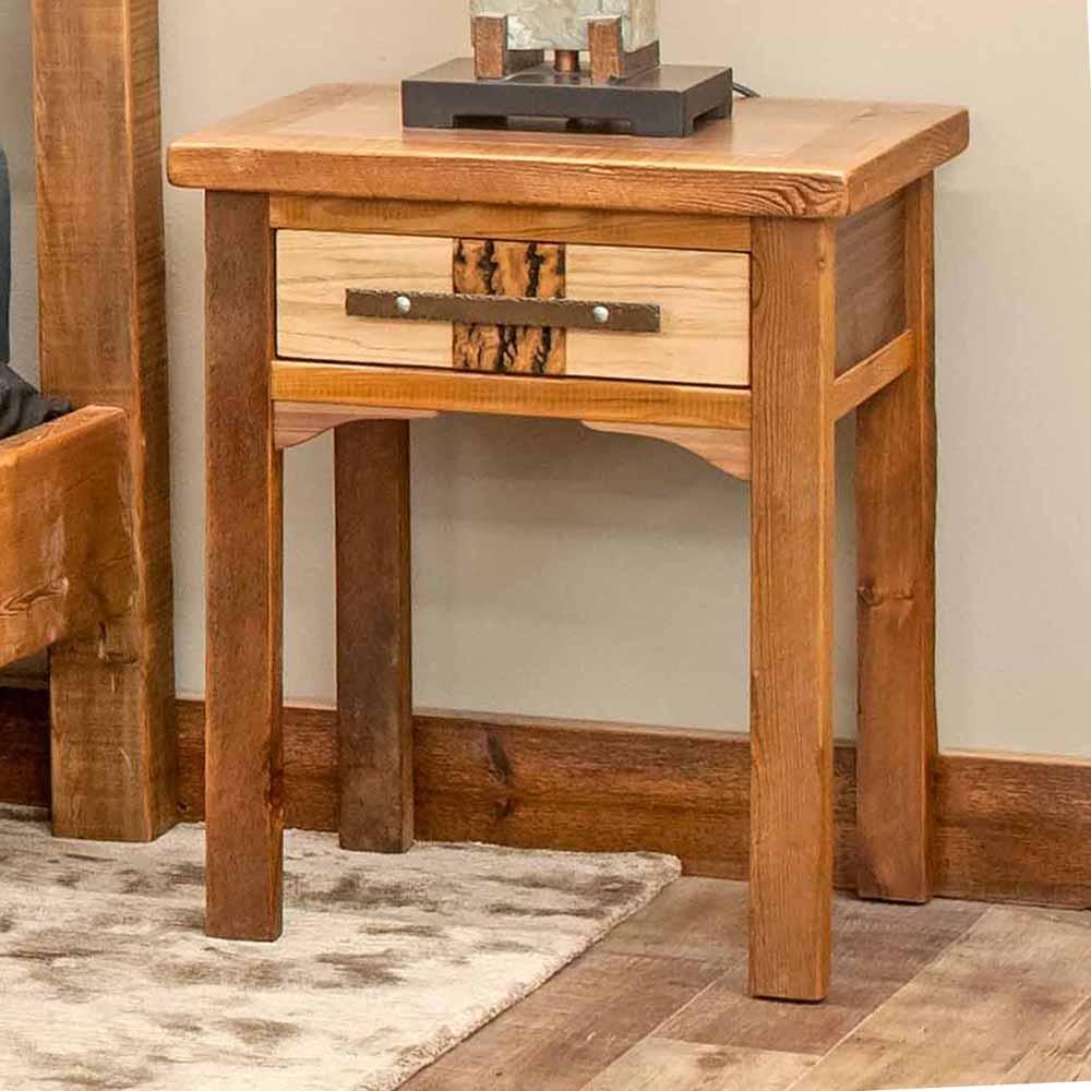 Mendocino Reclaimed Barn Wood 1 Drawer Nightstand-TM Designs 8157415
