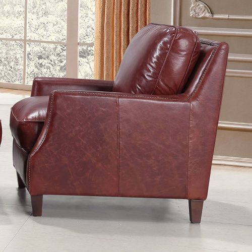 Oakridge Chair 6103 | Top Grain Leather Nail head Trim