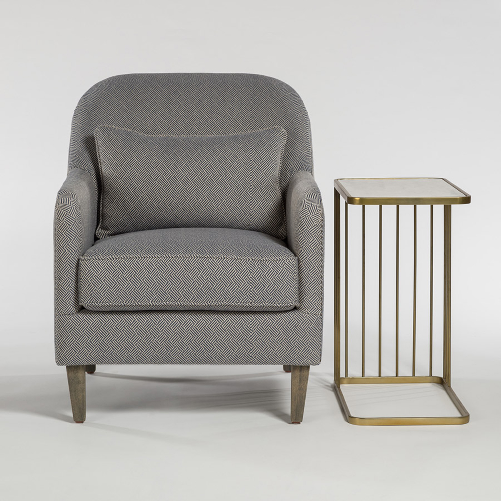 Harvard Occasional Chair At9015 Nm Navy Maze