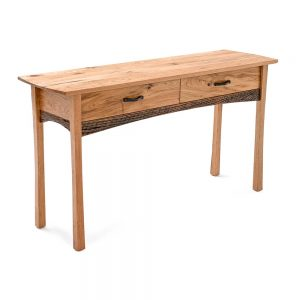Hampton Heath 2 Drawer Sofa Table HH7270 In Butternut Hardwoods