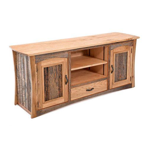 Hampton Heath Reclaimed Barn Wood 2 Door 1 Drawer TV Stand HH7890