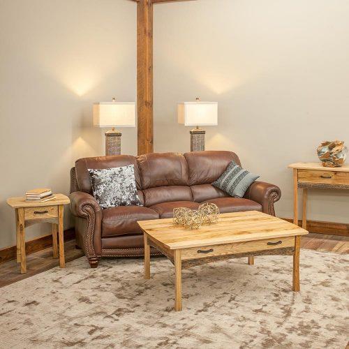 Hampton Heath Reclaimed Barn Wood 1 Drawer Side Table HH5415