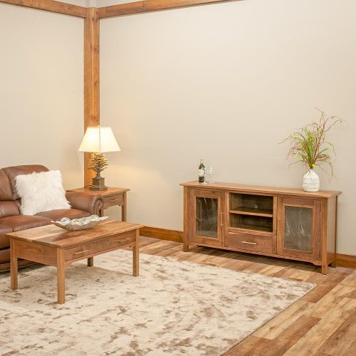 Kennewick Reclaimed Barn Wood 1 Drawer Coffee Table 5207212