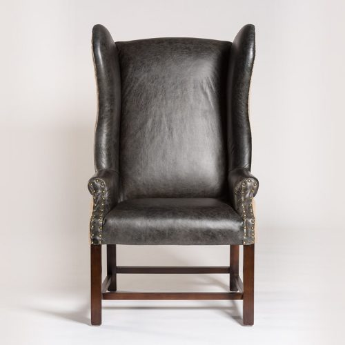 Rockwell Chair AT745-AC/NB leather wing back chair.