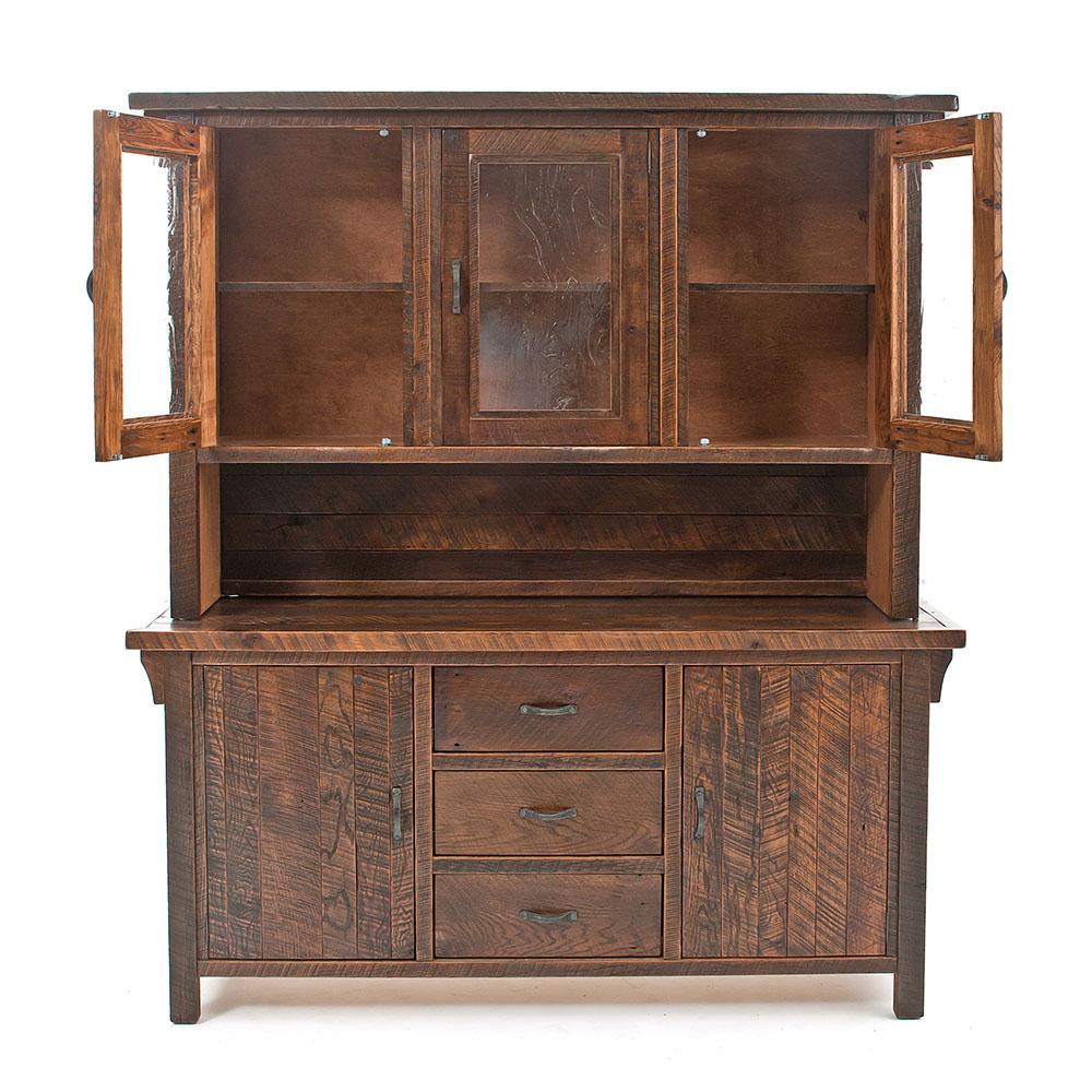 Oak Haven Reclaimed Barn Wood Buffet-Hutch 17722