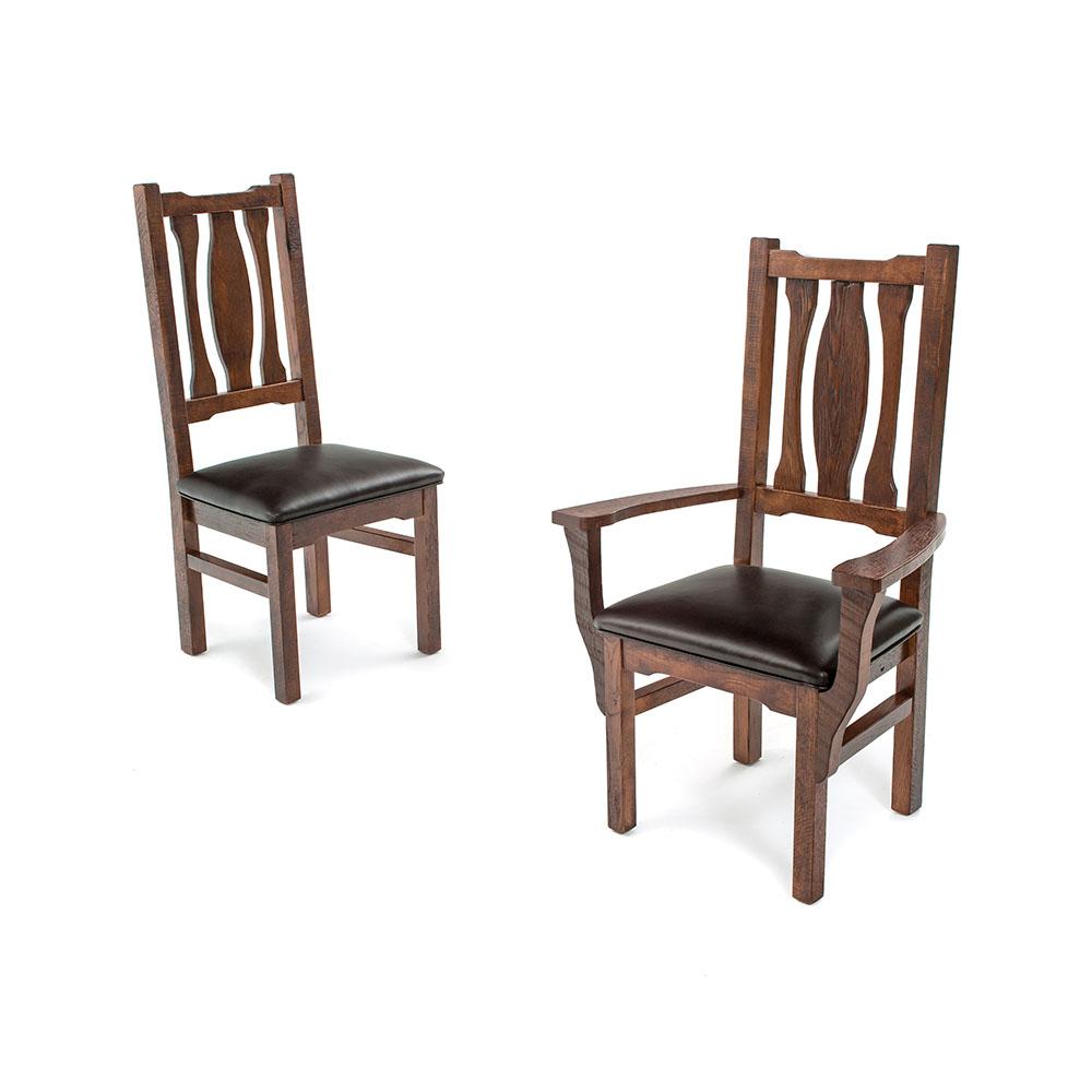 Oak haven reclaimed barn wood dining chair