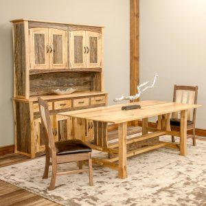 Hampton Heath Reclaimed Barn Wood Dining Table HH7753