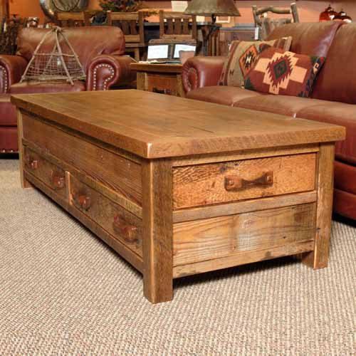 Stony Brooke Reclaimed Barn Wood 4 Drawer Coffee Table 7215