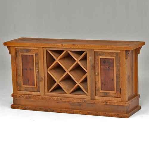 Stony Brooke Reclaimed Barn Wood 2 Door Buffet-Wine Storage 7705-W