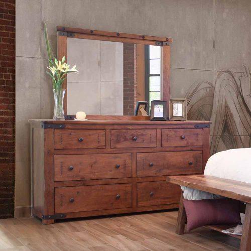 Parota II Urban Rustic 7 Drawer Dresser IFD867DSR