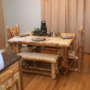 Light Aspen Log Dining Table TRL-ALL-DT-7