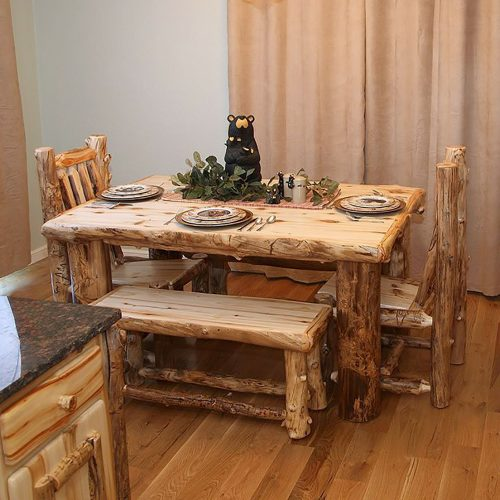 Light Aspen Log Dining Table TRL-ALL-DT-7