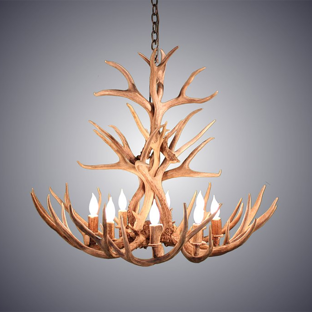 8 light tall mule deer antler chandelier awc 3 deer antler chandelier awc 3 8 arubaitofo Images